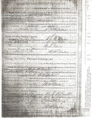 Marriage record for J.M. Barnett and Mattie A. Kelly, 1875, in Parker Co., Texas